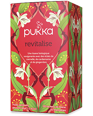 Pukka Revitalise, Tisane with Cinnamon, Cardamom and Ginger, 20 teabags – To wake and invigorate you! Infusions