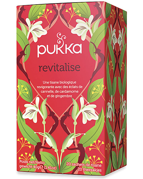 Pukka Revitalise, Tisane with Cinnamon, Cardamom and Ginger, 20 teabags - To wake and invigorate you! Infusions
