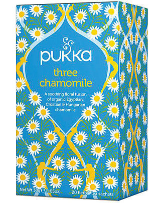 Pukka Three Chamomile, 20 teabags - Calming and relaxing Infusions