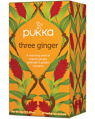 Pukka Three Ginger, 20 teabags - Great for your respiratory system Infusions