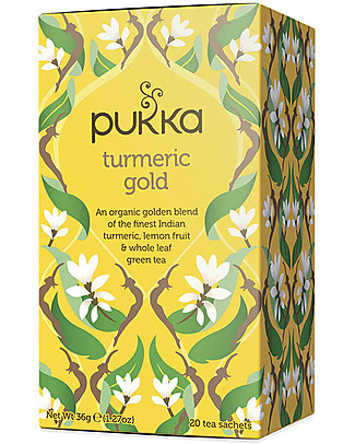 Pukka Turmeric Gold, Lemon Fruit, Turmeric & Green Tea Tisane, 20 teabags - It Nourishes and  Restore! Infusions