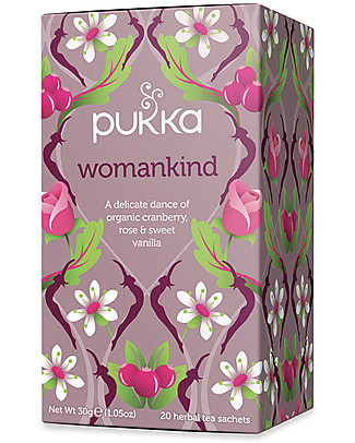 Pukka Womankind, Tisane with Cranberry, Rose and Vanilla, 20 teabags – Nourishes with sweetness Infusions