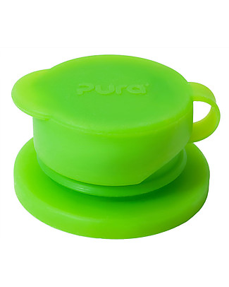 Pura Kiki Big Mouth, Silicone Sport Top, Green - Suitable for all Pura Kiki bottles and sport bottles! Metal Bottles