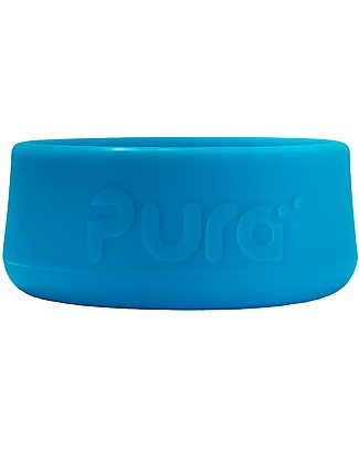 Pura Kiki Silicone Bumpers for Pura Kiki Stainless Steel Bottles 325/250/150 ml, Blue Metal Bottles