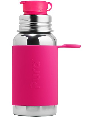 Pura Kiki Sport Bottle, Pink, 550 ml – The first 100% plastic-free sport battle on the market! Metal Bottles