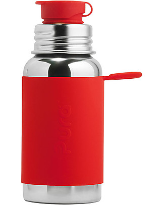 Pura Kiki Sport Bottle, Red, 550 ml – The first 100% plastic-free sport battle on the market! Metal Bottles