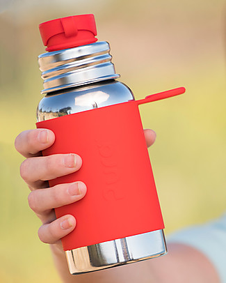 Pura Kiki Sport Bottle, Red, 550 ml – The first 100% plastic-free sport battle on the market! Metal Bottles
