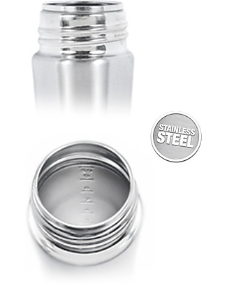 Pura Kiki Stainless Steel Vacuum Insulated Toddler - 250ml - Medium Flow Teat 3+ months - Pink Stainless Steel Baby Bottles