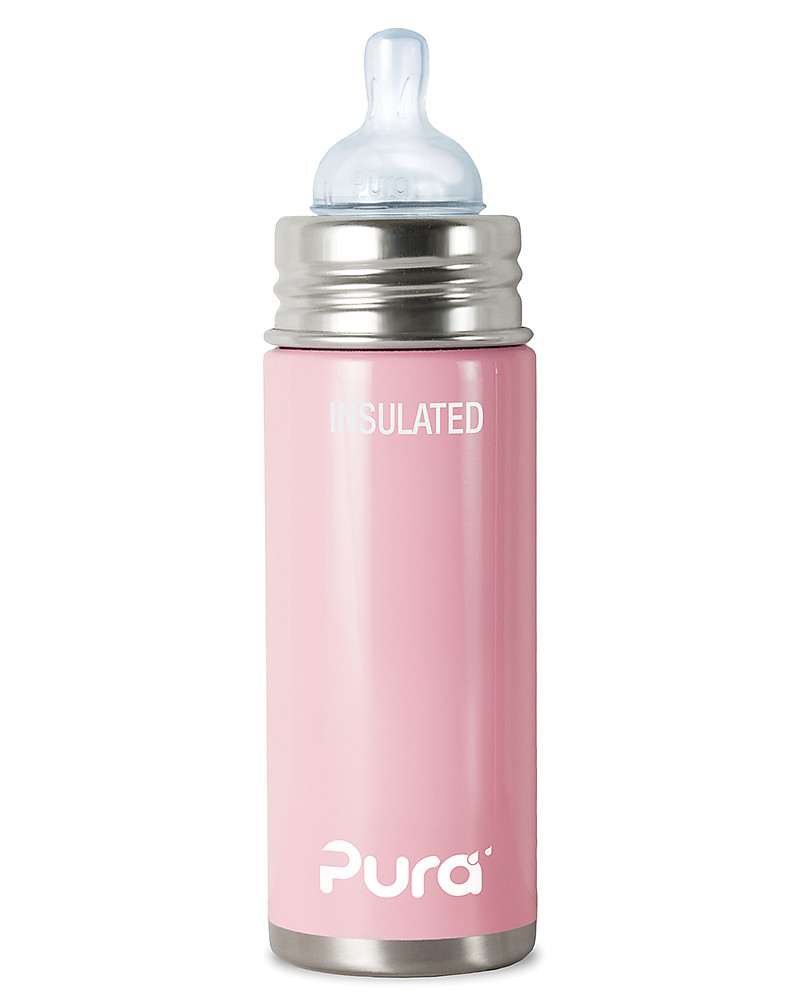 Great Pura Kiki Stainless Steel Vacuum Insulated Toddler   250ml   Medium Flow  Teat 3+ Months