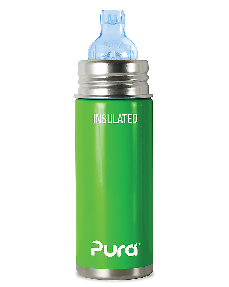 Superb Pura Kiki Stainless Steel Vacuum Insulated Toddler Sippy Bottle   266ml    6+ Months