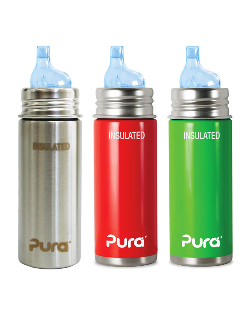 High Quality Pura Kiki Stainless Steel Vacuum Insulated Toddler Sippy Bottle   266ml    6+ Months
