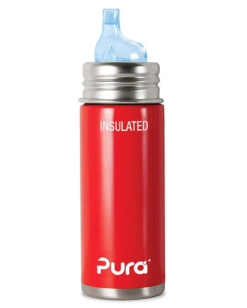 Pura Kiki Stainless Steel Vacuum Insulated Toddler Sippy Bottle   266ml    6+ Months