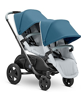 Quinny Quinny Hubb Duo Stroller, Blue Coral/Grey - Many Combinations! Travel Systems