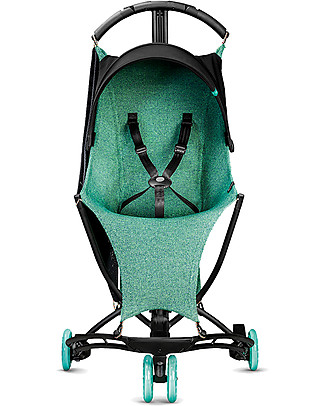 Quinny Yezz Air Stroller, Aqua Blend - Comfy, Ultra-light, Portable! Lights Strollers