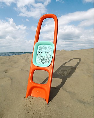 Quut Scoppi Digger and Sand Sifter - Orange - Multifunctional & Innovative Design! Beach Toys