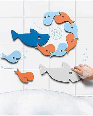 Quut Shark Bath Puzzle - Funny and Eco-friendly Bath Toys