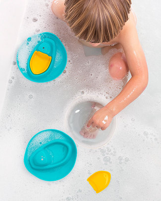 Quut Sloopi Bath Boat - Lagoon Green and Mellow Yellow Bath Toys