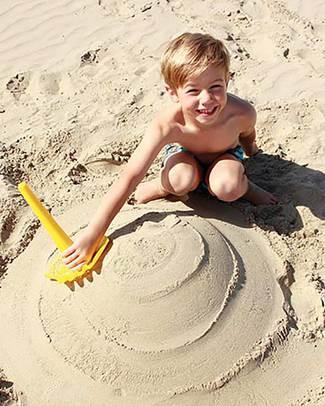Quut Triplet Multifunctional Beach Toy - Mellow Yellow - Multifunctional & Innovative Design! Beach Toys