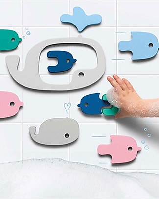 Quut Whale Bath Puzzle - Funny and Eco-friendly Bath Toys