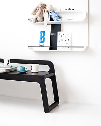 Rafa Kids BB Bench with Backrest 120 cm, Chocolate - Finnish birch Tables And Chairs