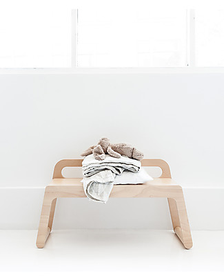 Rafa Kids BB Bench with Backrest 90 cm, Natural Wood - Finnish birch Tables And Chairs