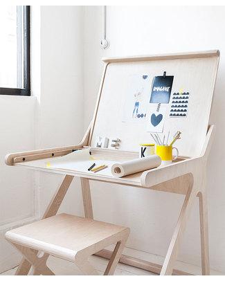 Rafa Kids K Desk Kids Desk - Natural- Finnish Birch Tables And Chairs