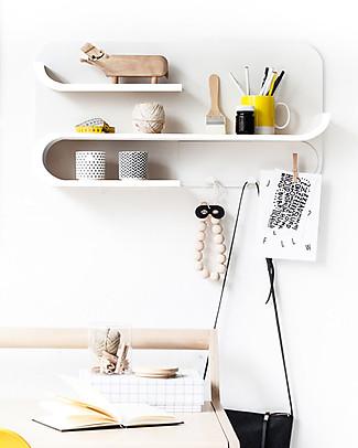 Rafa Kids Kids M Shelf, White wood and metal - Finnish birch Shelves