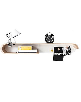 Rafa Kids Kids S Shelf, Natural wood and White metal - Finnish birch Shelves
