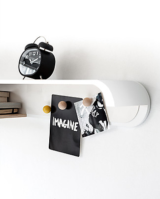 Rafa Kids Kids S Shelf, White wood and metal - Finnish birch Shelves