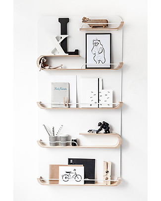 Rafa Kids Kids XL Shelf, Natural wood and White metal - Finnish birch Shelves