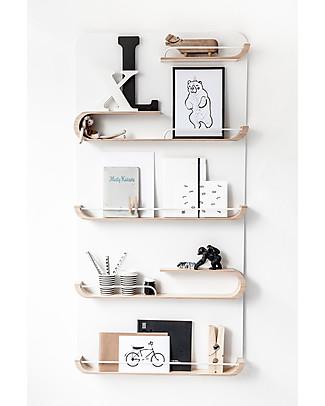 Rafa Kids Kids XL Shelf, Natural wood and White metal - Finnish birch Shelves