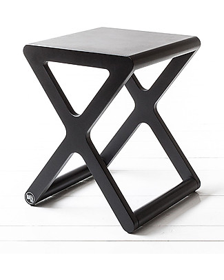 Rafa Kids X Stool for Kids - Darkchocolate - Finnish Birch Chairs