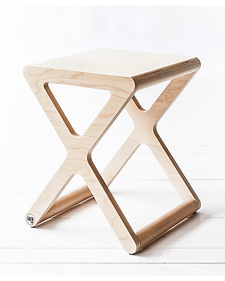 Rafa Kids X Stool for Kids - Natural - Finnish Birch Chairs