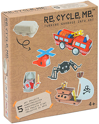 Re-Cycle-Me Sustainable Toy Set Eggs Box Boys - Turn garbage into art! Creative Toys