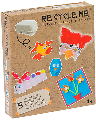 Re-Cycle-Me Sustainable Toy Set Eggs Box Girls - Turn garbage into art! Creative Toys