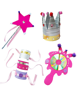 Re-Cycle-Me Sustainable Toy Set Make a Princess - Create your own princess outfit with garbage! Creative Toys