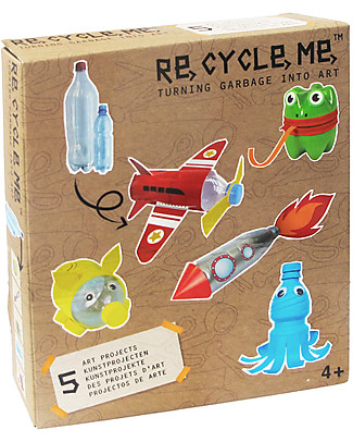 Re-Cycle-Me Sustainable Toy Set PET Bottles Boys- Turn garbage into art! Creative Toys