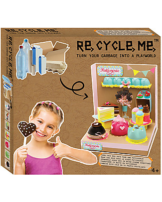 Re-Cycle-Me Sustainable Toy Set Playworld Patisserie - Turning garbage into a patisserie! Creative Toys