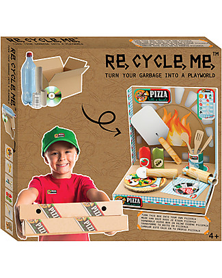 Re-Cycle-Me Sustainable Toy Set Playworld Pizzeria - Turning garbage into a pizzeria! Creative Toys