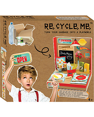 Re-Cycle-Me Sustainable Toy Set Playworld Restaurant - Turning garbage into a restaurant! Creative Toys