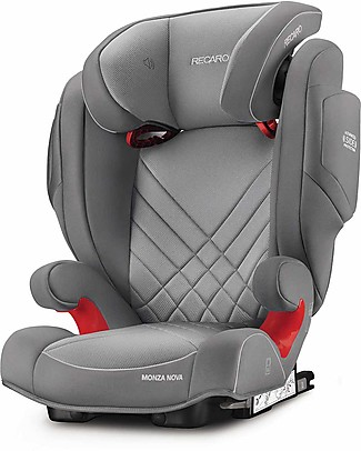 Recaro Monza Nova 2 Seatfix Car Seat, Groups 2-3, (15-36 kg) - Aluminium Grey Car Seats