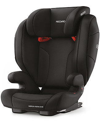 Recaro Monza Nova Evo Car Seat, Groups 2-3, (15-36 kg) -  Performance Black Car Seats
