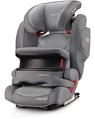 Recaro Monza Nova IS Seatfix Car Seat, Groups 1-2-3, (9-36 kg) - Aluminium Grey Car Seats