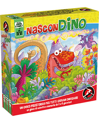 Red Glove 2in1 Game NasconDino - Hide and Seek in Prehistoric Times Memory Games