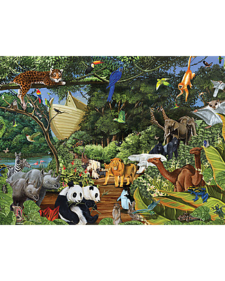 Red Glove Noah's Gathering Puzzle, 350 Pieces Memory Games