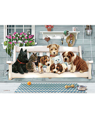 Red Glove Porch Pals Puzzle, 350 Pieces Memory Games