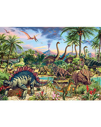Red Glove Prehistoric Party Puzzle, 350 Pieces Memory Games