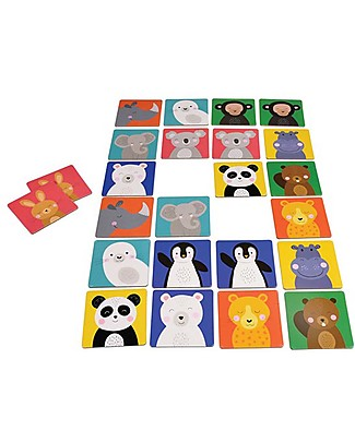 Rex London Animal Friends Memory Cards Game - 12 funny animals included! Traditional Toys