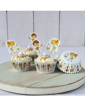 Rex London Baking Set Cupcake Cases + Toppers, Home Baking Cake Decorations