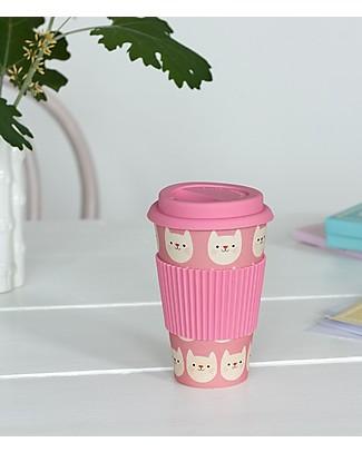 Rex London Bamboo Travel Mug 400 ml, Cookie the Cat - Original and Eco-Friendly Cups & Beakers